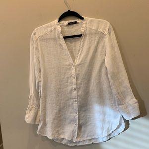 Zara linen shirt size s
